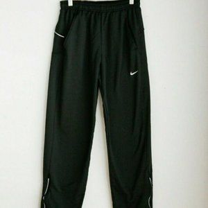 Nike Fit Black Relaxed Tapered Zip Ankle Joggers